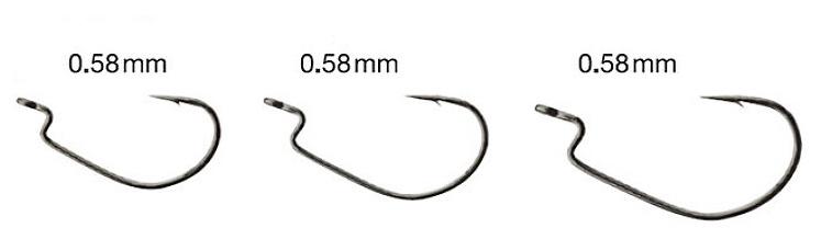 Gran Inch Hook Ultra Fine Wire (ofseta āķi