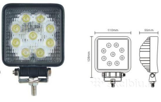LED Illuminator 27W 9 LED 12V