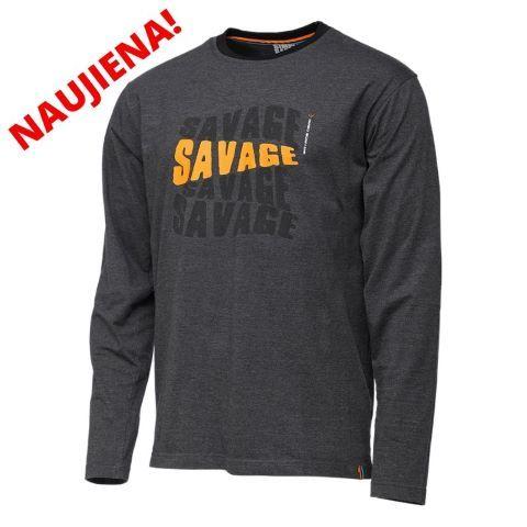T-krekls SG Simply Savage Logo-Tee ar garām piedurknēm