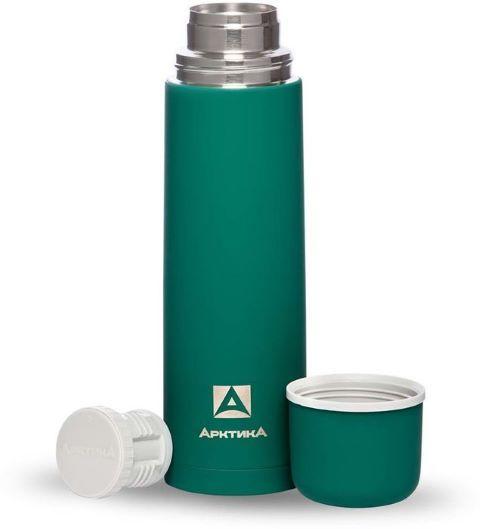 Termosa pudele ARKTIKA ar gumijas pārklājumu 1000ml, zaļa