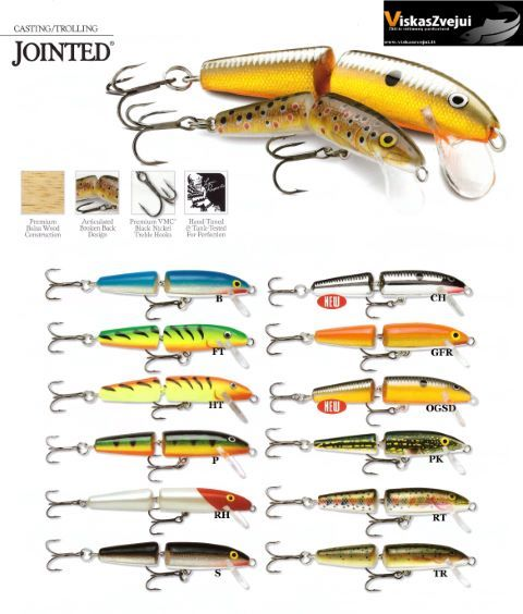 Rapala Jointed 7cm-9cm
