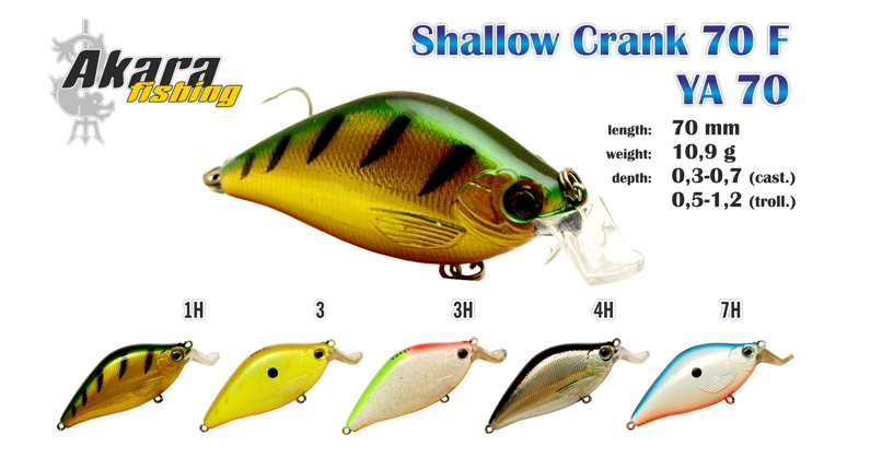 Svārstīgs AKARA «Shallow Crank» 70 F
