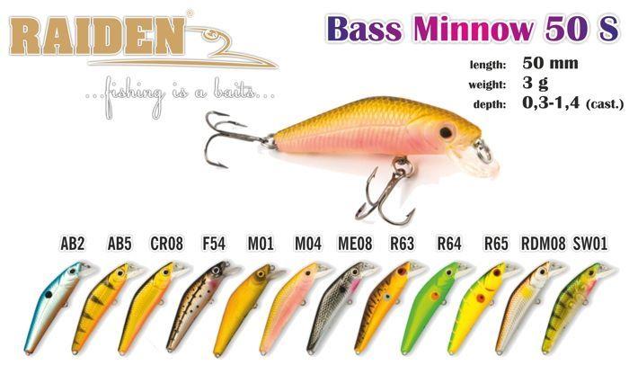 Rapala Raiden «Bass Minnow» 50 S