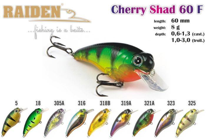 Svārstīgs Raiden «Cherry Shad» 60 F
