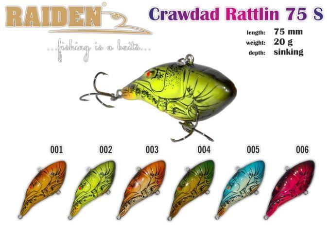 Rapala Raiden «crawdads Rattlin» 75 S