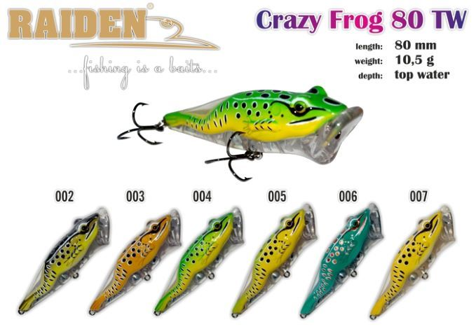 Rapala Raiden «Crazy Frog» 80 TW