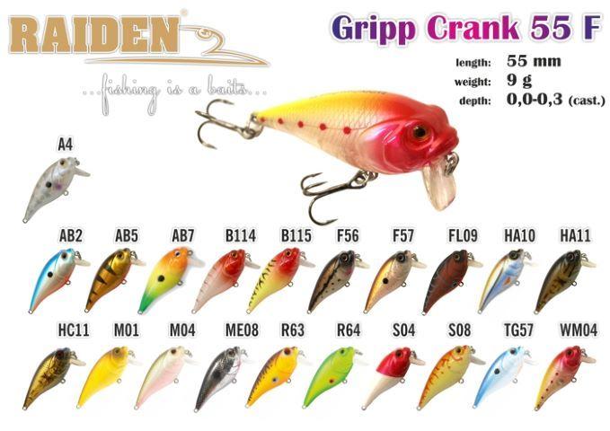 Rapala Raiden «Gripp Crank» 55 F