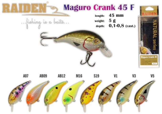 Rapala Raiden «Magura Crank» 45 F