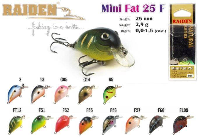 Rapala Raiden Mini-Fat »25 F
