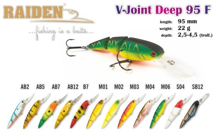 "Rapala Raiden «Deep V-Joint"" 95 F"