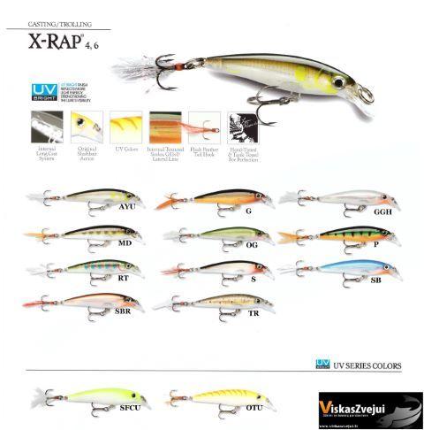 Rapala X-RAP 4cm-6cm